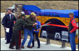 Pronghorn Migration Interpretive Site ribbon cutting April 13, 2016. Photo by Terry Allen, Pinedale Online!
